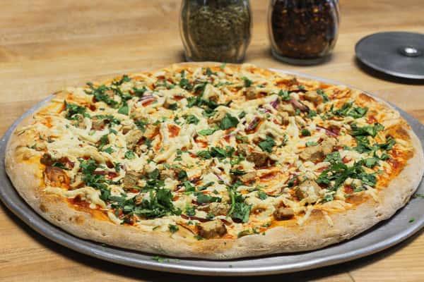 Vegan Buffalo Chicken Pizza