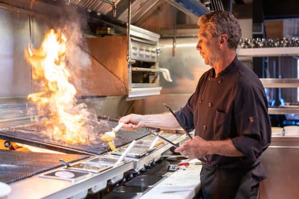 Chef Brian action shot