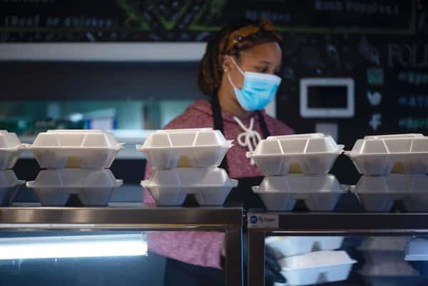 Staff at Springreens & Jayida Che' preparing meals