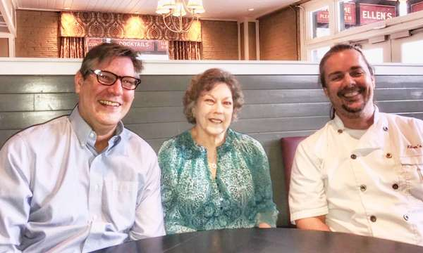 L-R: Co-founder Joe Groves, Ellen Groves Corlee (Joe's mom), and Co-founder Chef Russell Mertz