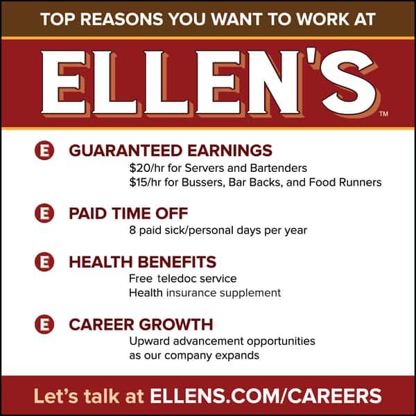 Work with us at Ellen's!