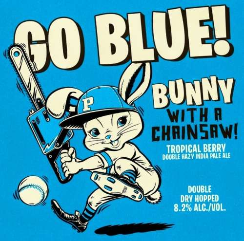 Go Blue Bunny w/ a Chainsaw 'Tropical Berry Double Hazy IPA'