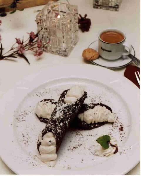 chocolate covered cannolis
