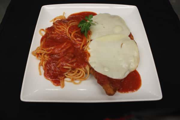 Fried Chicken Parmigiana