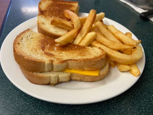 Jr. Grilled American on white Sandwich