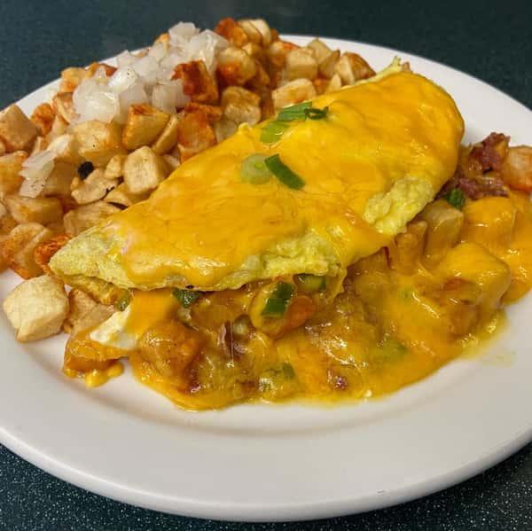 Au Gratin Potato Omelet