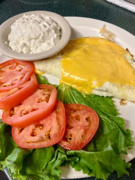 Egg White Cheese Omelet