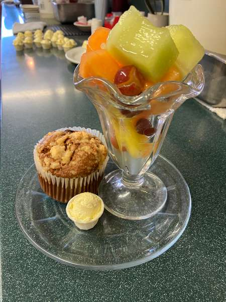 Fruit and Muffin