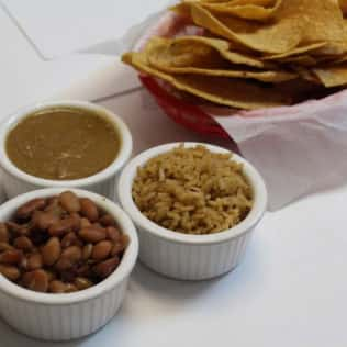 beans and dips and chips
