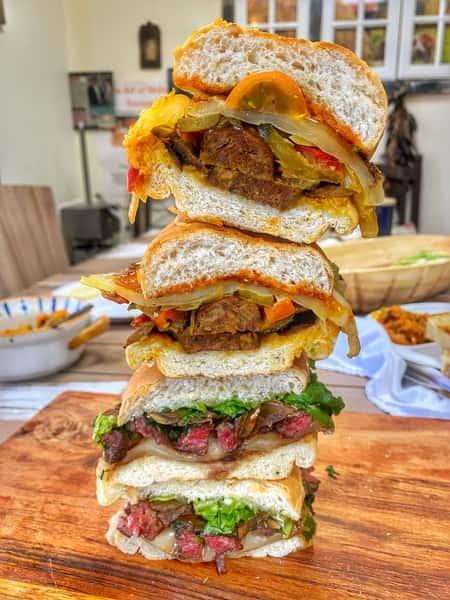 Sausage/Pork Belly Sandwich