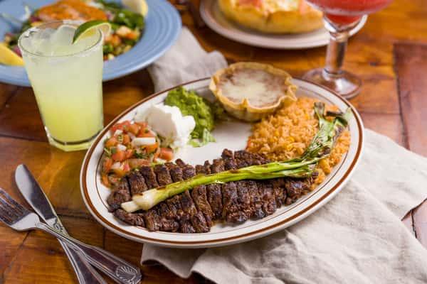 margarita and carne asada