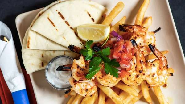 Garlic Shrimp Souvlaki