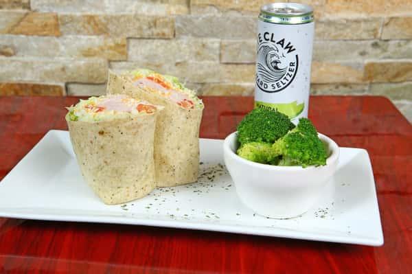 wrap with broccoli