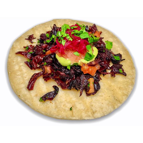 27. Hibiscus Petals Taco