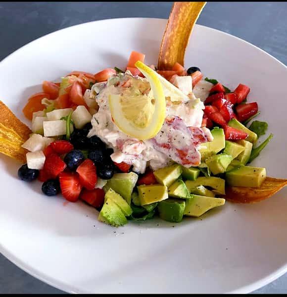 Seasonal lobster salad