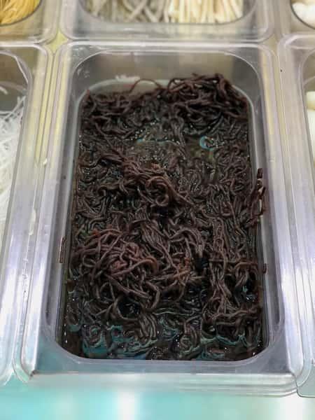 7. Black/Green Seaweed Noodles