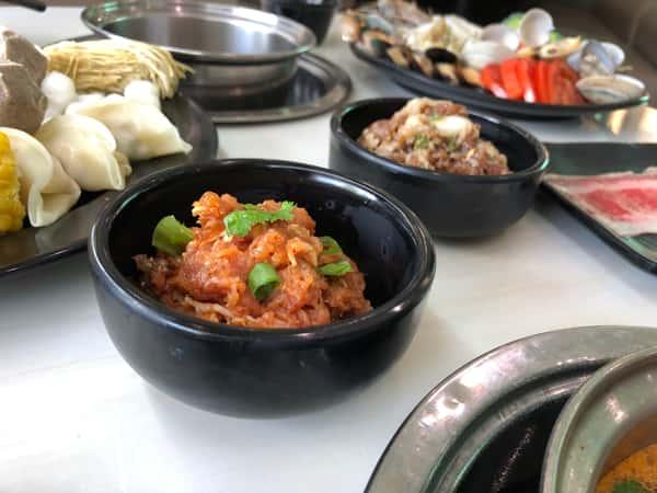 Close up of Korean Bulgogi and Spicy Pork Bulgogi
