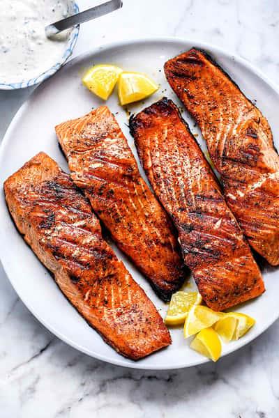 Jerk Salmon Grilled