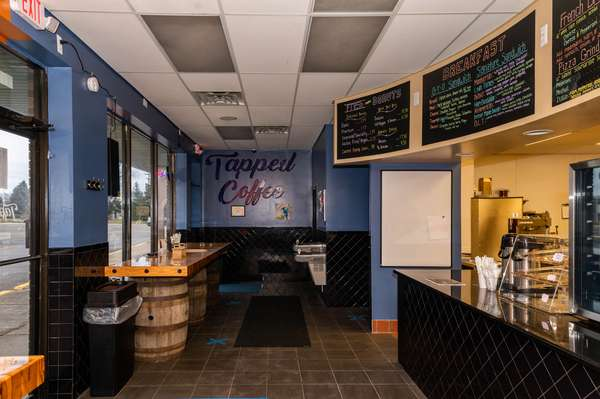 Tapped coffee interior