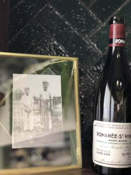 wine and a photograph