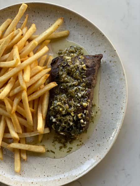Prime Flat Iron Steak Frites