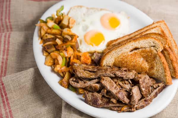 Carne Asada & Eggs