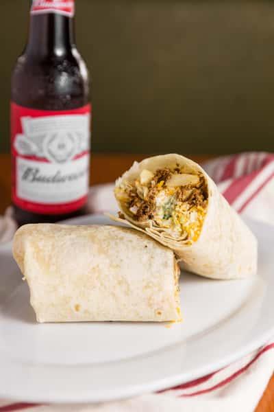 california burrito with budwiser