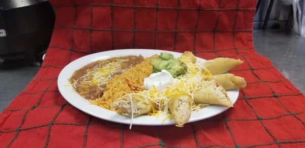 3 Taquitos Plate