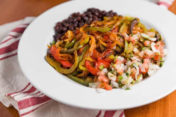 veggie fajita plate