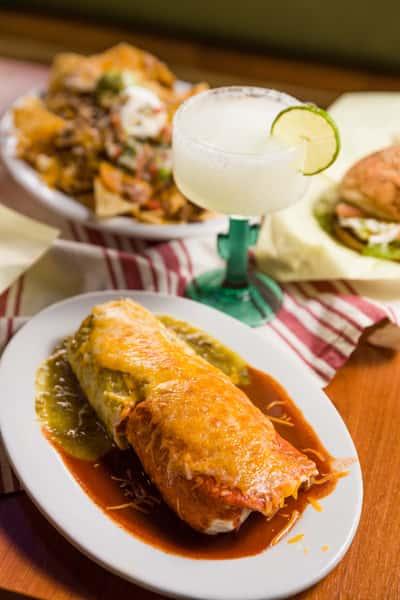 burrito and margarita