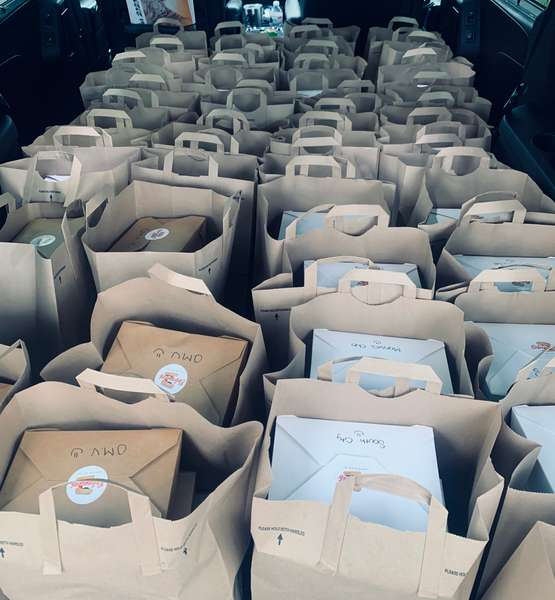 bags of boxed lunches
