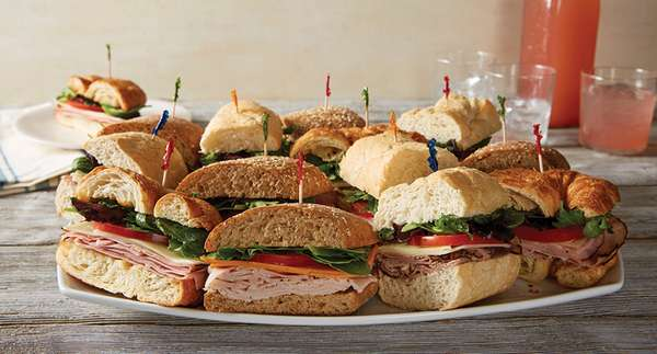 tray of subs