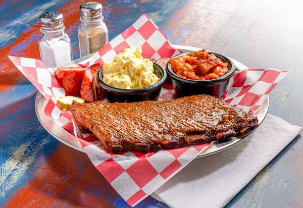 Half Rack of Steamboat Boys St. Louis Ribs & One Smoked Meat