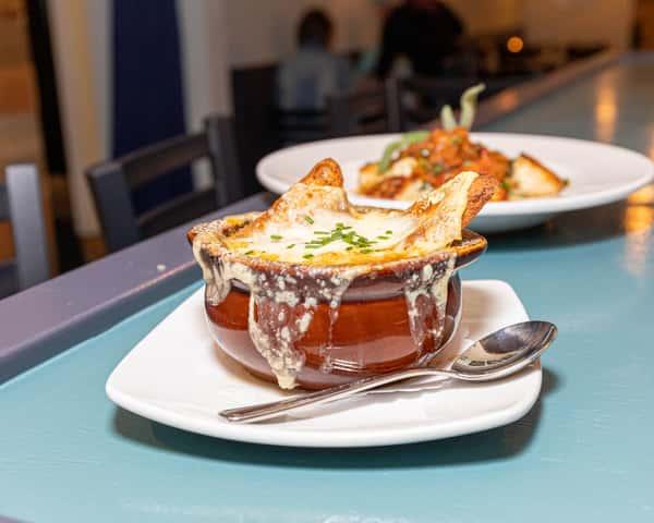 French Onion Soup au Gratin