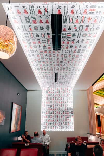 mah jong tile ceiling
