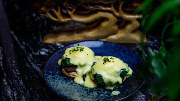 Mushroom & Eggplant Benedict