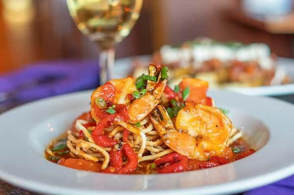 caramelized jumbo shrimp