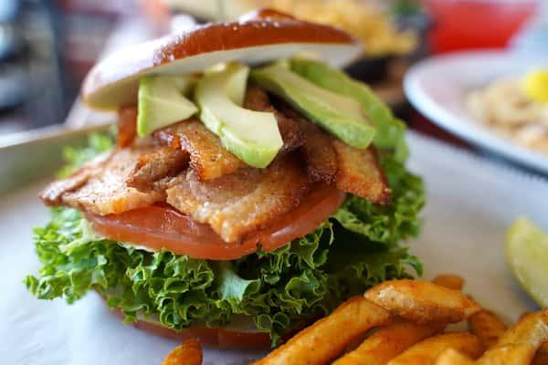 pork belly BLT