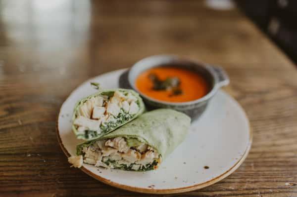 Chicken Kale Caesar Wrap