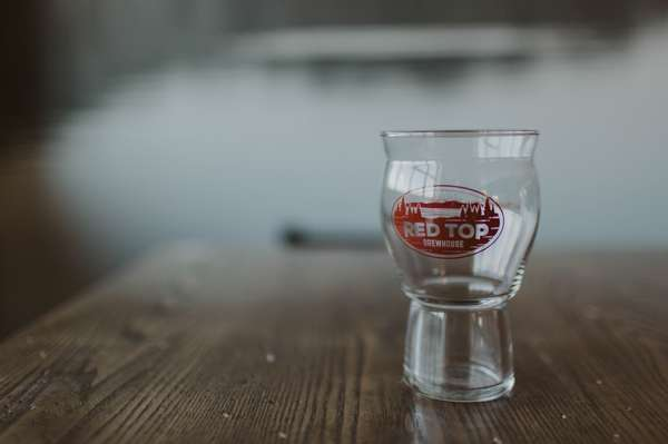 Red Top Brewhouse Pint Glass