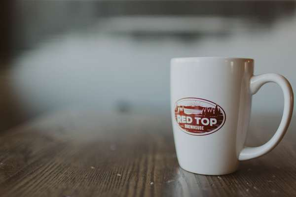 Red Top Coffee Mug
