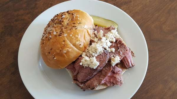 Our Famous Beef on Weck