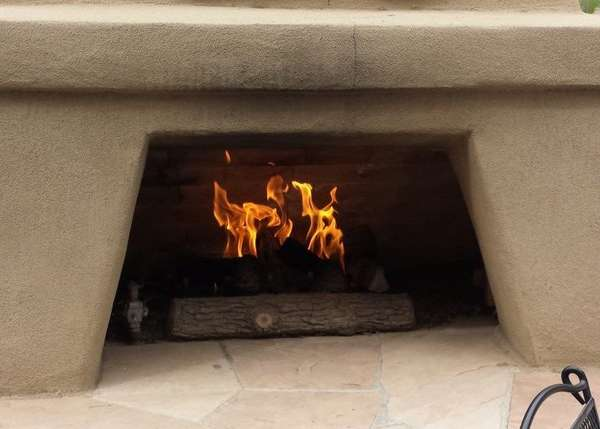 Cement fireplace