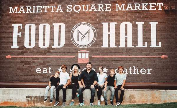 Kramer family of 7 and Marietta Square food hall