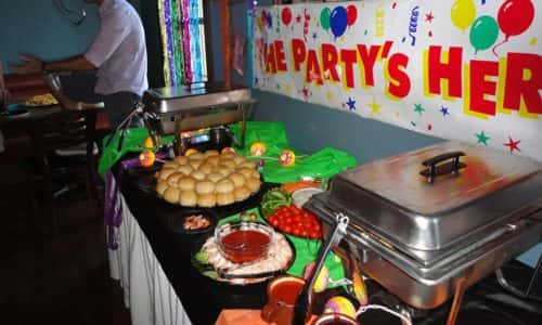food spread for party