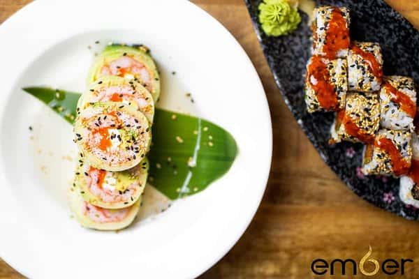 Kanisu and Spicy Tuna Rolls