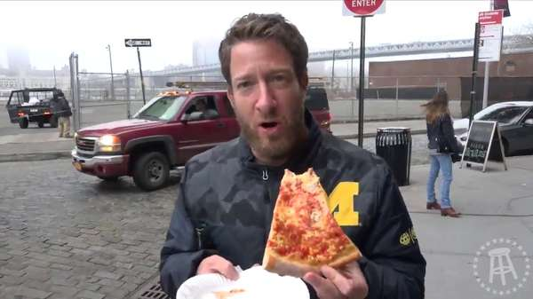 dave eating our pizza