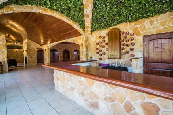 indoor outdoor bar area