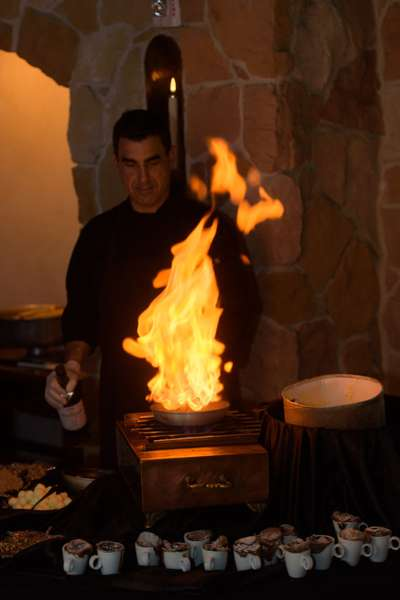 chef and fire
