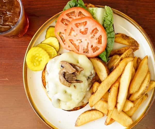 Mushroom & Swiss Turkey Burger
